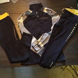 Nike Pro Livestrong Dri-fit 3 piece Lot